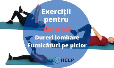 Exerciții pentru acasă – Dureri lombare cu senzații de furnicături pe picior