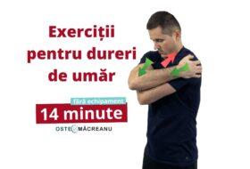 Exerciții pentru dureri de umăr la ridicarea bratului.