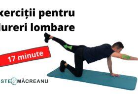 Set de exerciții pentru dureri lombare